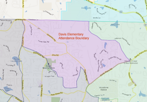 Davis Elementary Attendance Zone Map