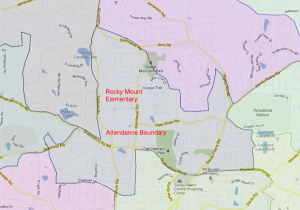 Rocky Mount Elementary Attendance Zone Map
