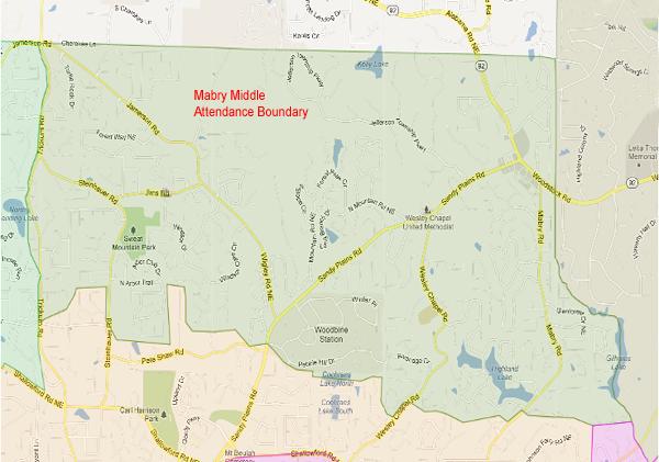 Mabry Middle School Attendance Zone