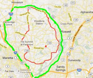 East Cobb Map